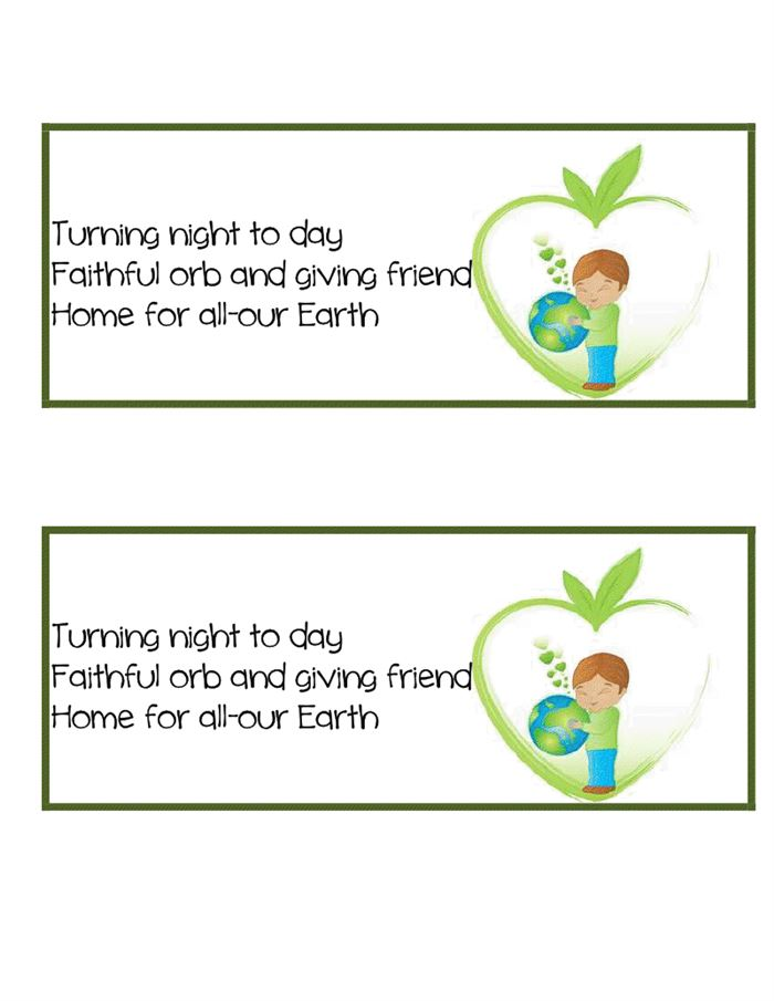 Short Happy Earth Day Poems For Kindergarten