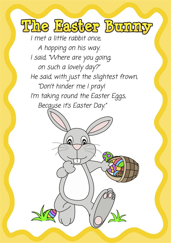 Famous Christian Easter Poems For Preschoolers