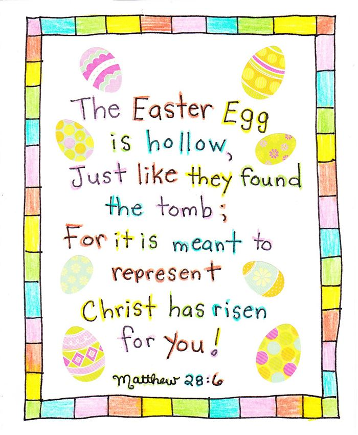 Free Printable Christian Easter Poems For Preschoolers