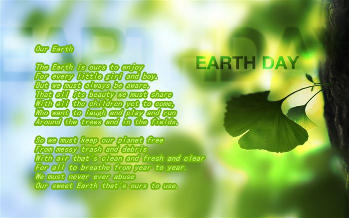 Famous Happy Earth Day Poems For Kids
