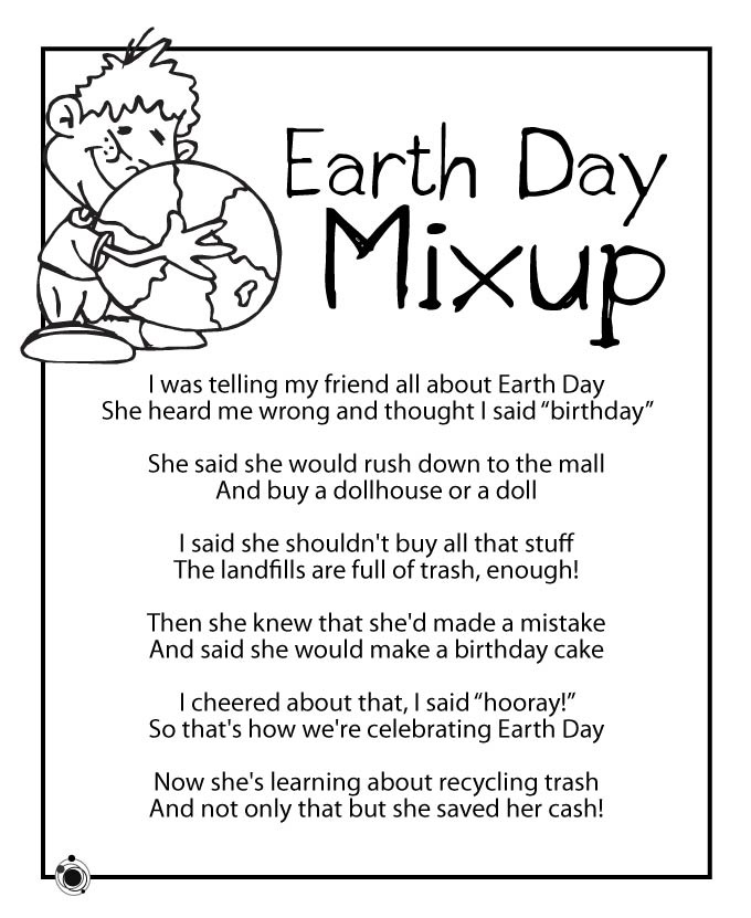 Funny Happy Earth Day Poems For Preschoolers