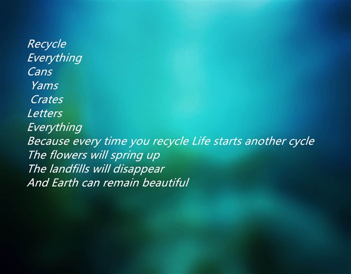 Meaning Happy Earth Day Reduce Reuse Recycle Poems
