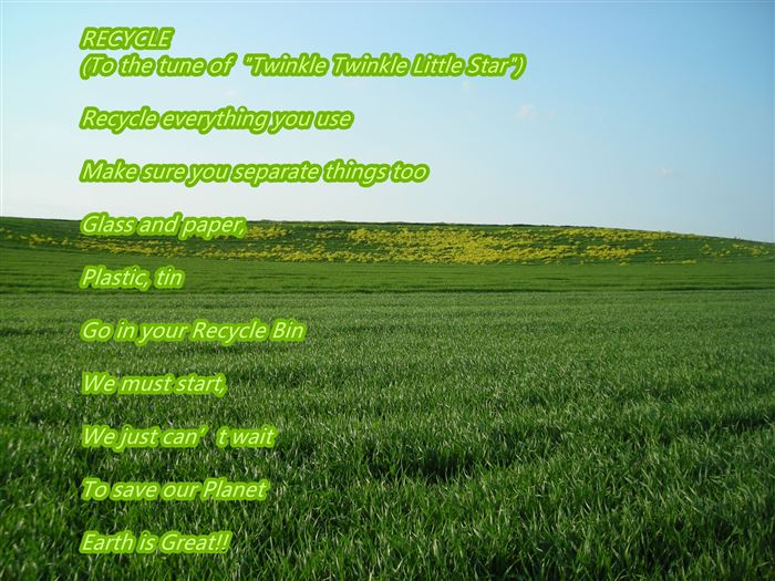 Best Free Happy Earth Day Reduce Reuse Recycle Poems