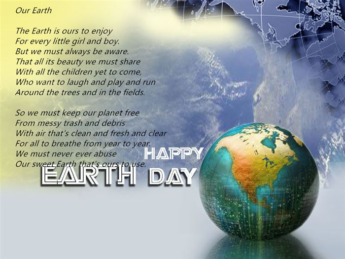 Free Inspirational Short Poems About Earth Day