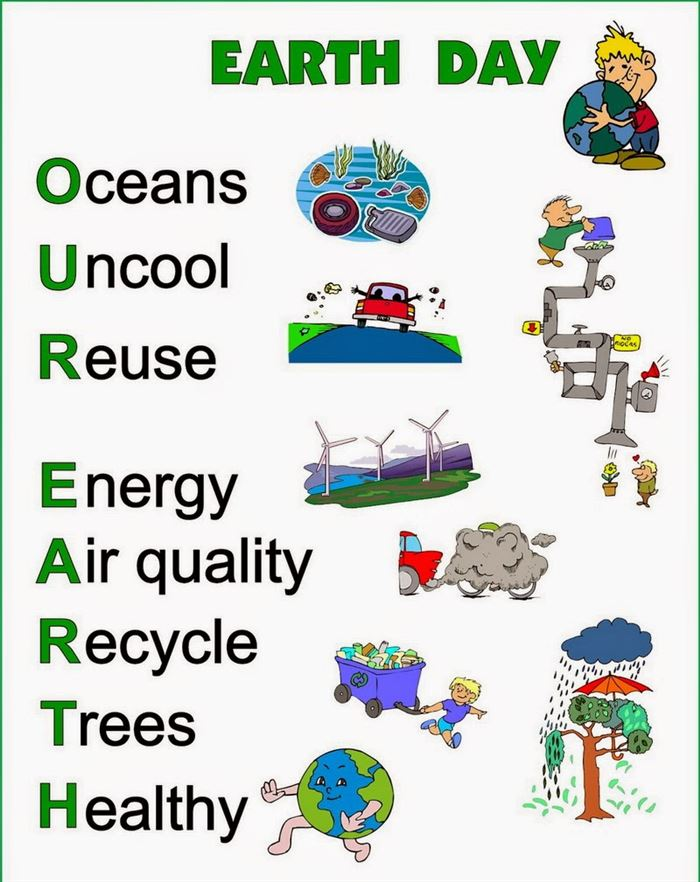 Printable Happy Earth Day Acrostic Poem