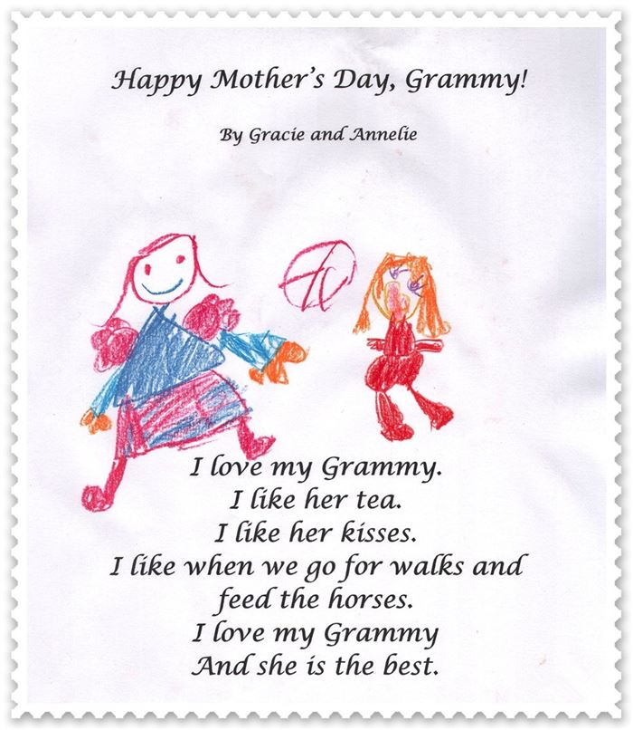 Free Handprint Happy Mother's Day Poems For Children