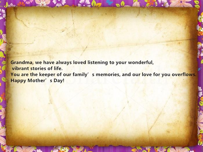 Beautiful Happy Mothers Day Card Quotes For Grandmothers