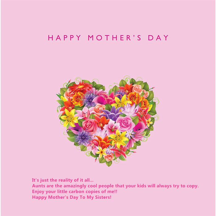 Meaningful Happy Mother's Day Cards Sayings For Sisters
