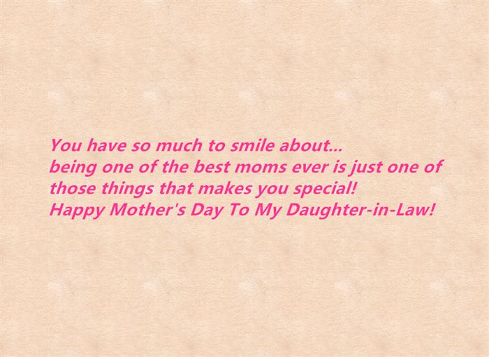 Famous Happy Mother's Day Messages From Daughter In Law