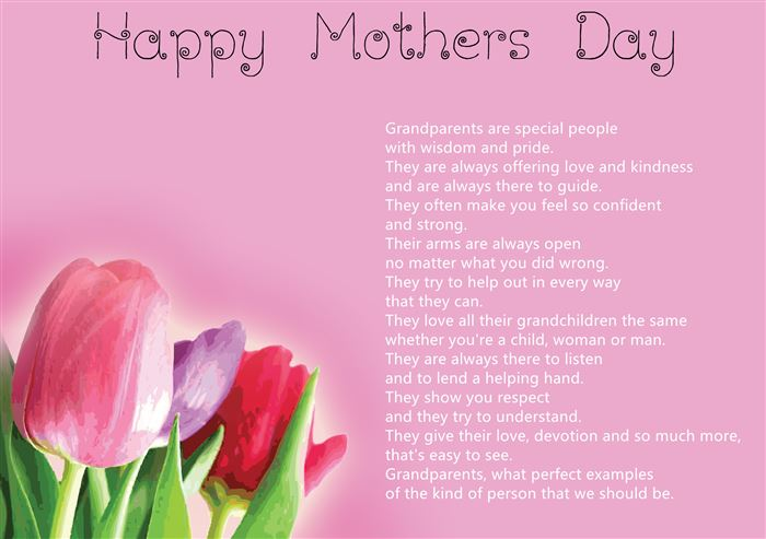 Meaningful Happy Mother's Day Poems For Grandmas From Kids