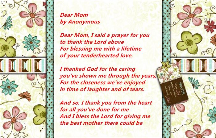 Best Happy Mother's Day Poems From Son
