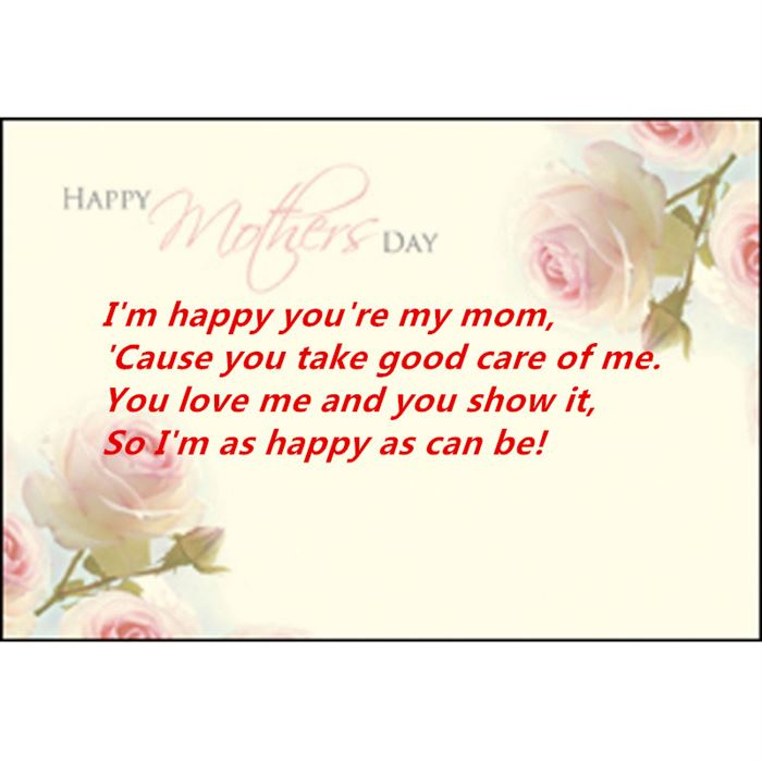Best Poems For Happy Mother's Day Cards For Kids