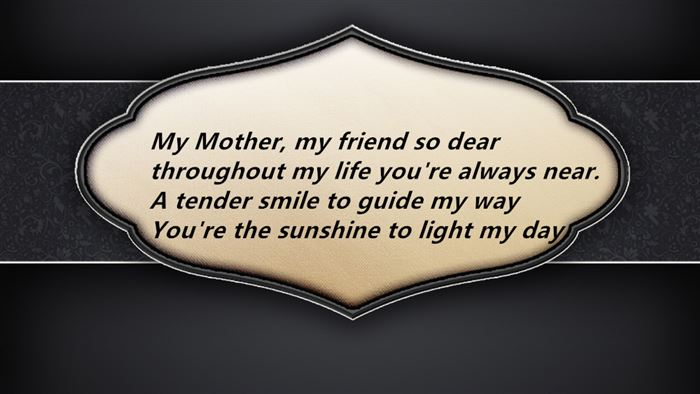 Free Poems For Happy Mother's Day Cards For Kids