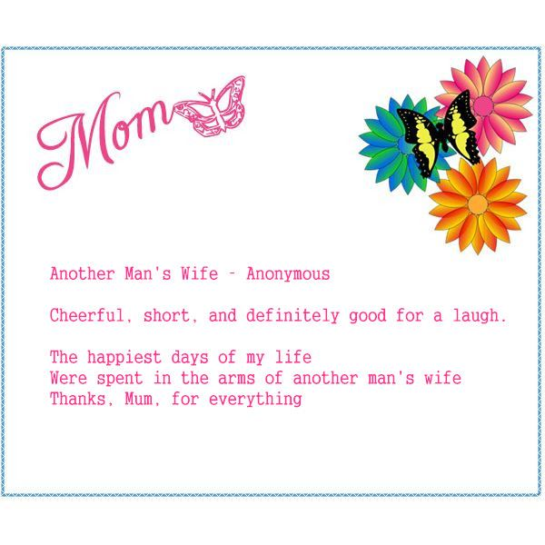 Best Short Happy Mothers Day Poems From Son