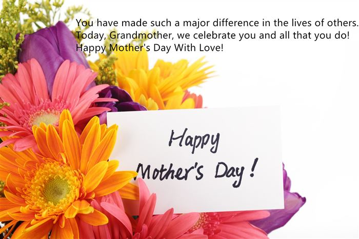 Cute Happy Mother's Day Greeting Card Messages For Grandma