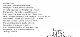 Famous Happy Mother's Day Poems For Grandmas From Baby