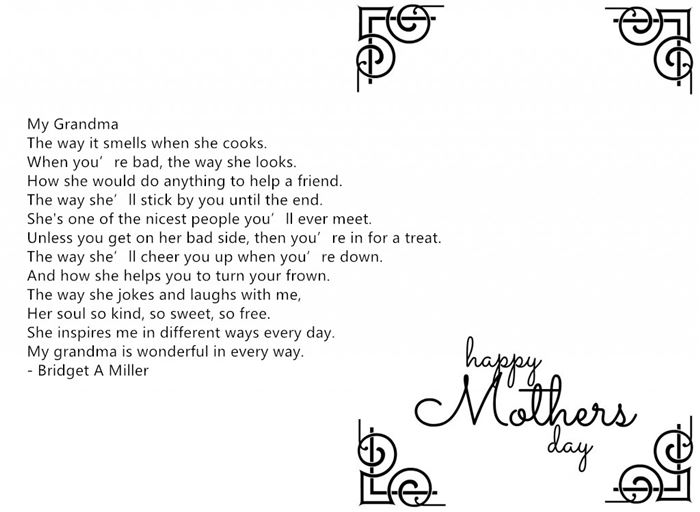 Meaningful Happy Mother's Day Poems For Grandmas From Baby