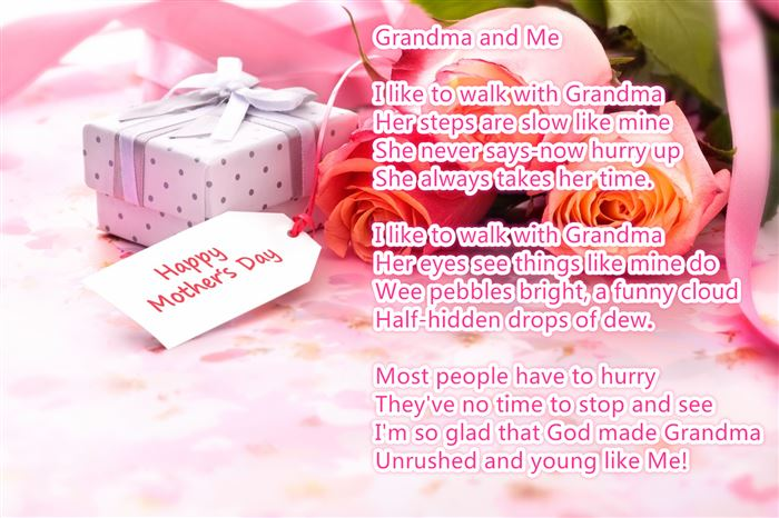 Famous Happy Mother's Day Poems For Grandmas From Child
