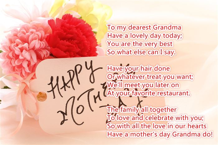 Free Happy Mother's Day Poems For Grandmas From Child