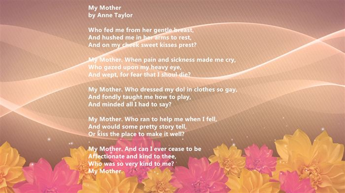 Famous Happy Mother's Day Poems From Daughter