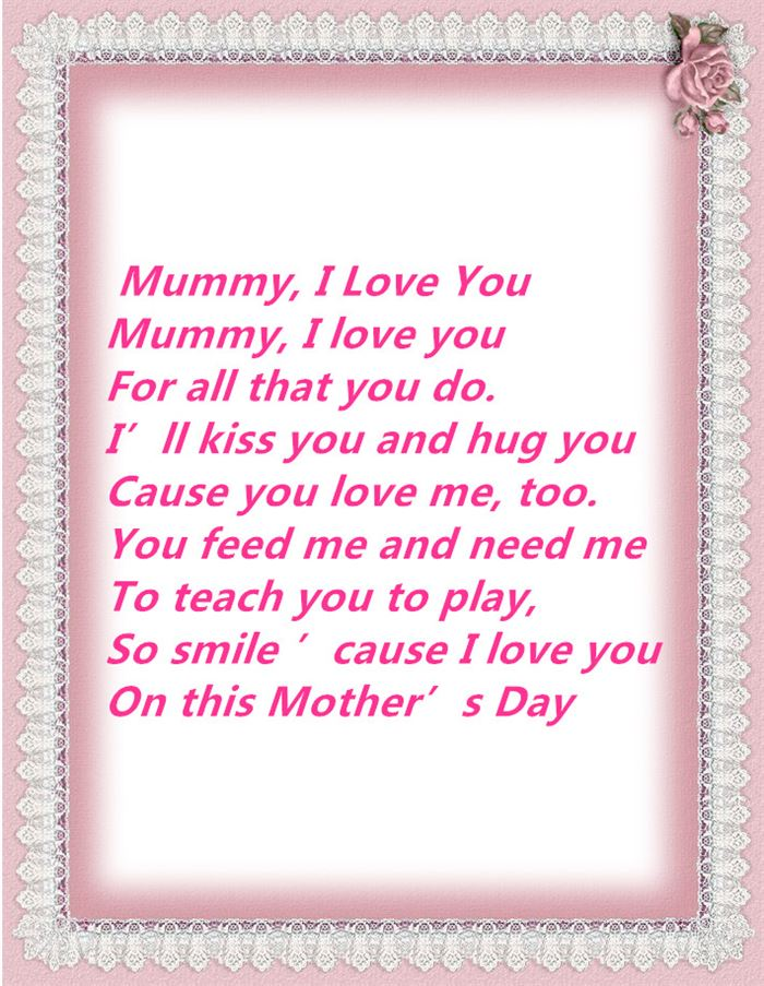 Meaningful Happy Mother's Day Poems From Young Children