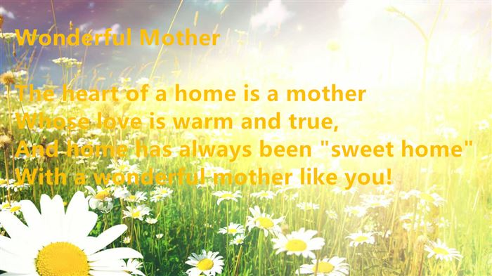 Meaning Short Happy Mother's Day Poems From Son In Law