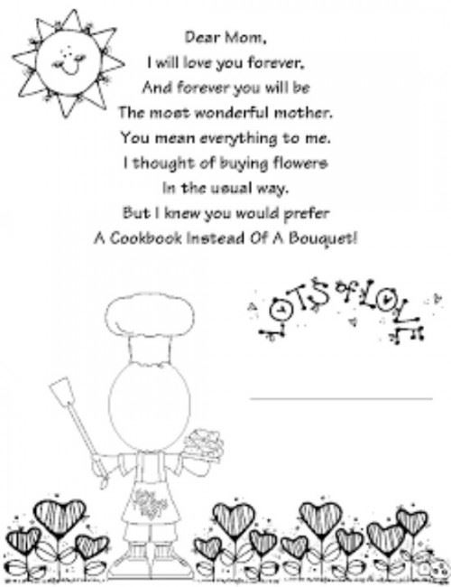 Free Printable Happy Mother's Day Poems For Toddlers