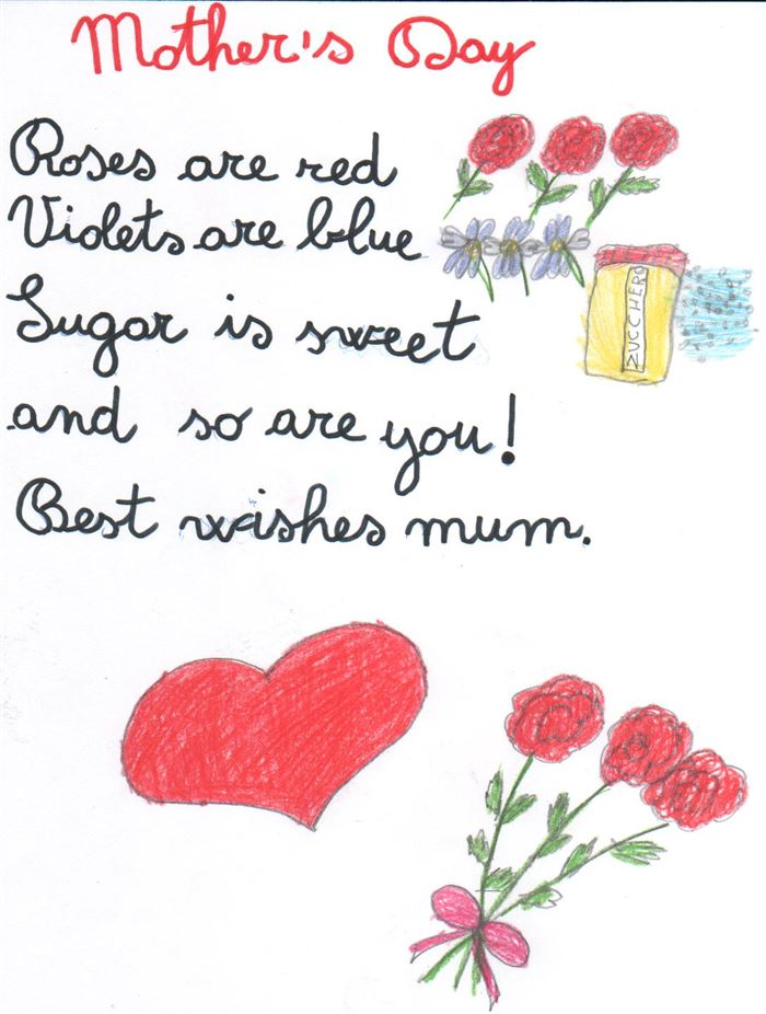 Meaning Printable Happy Mother's Day Poems From Kids