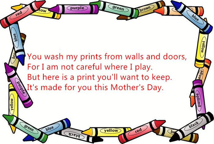Funny Short Happy Mother's Day Poems From Kids