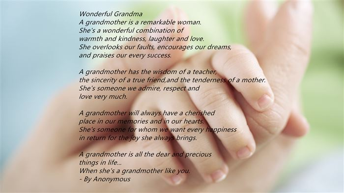 Happy Mother's Day Poems For Grandmas From Granddaughters