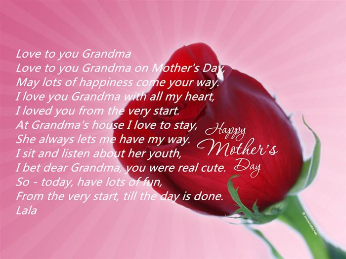 Free Happy Mother's Day Poems For Grandmas From Granddaughters