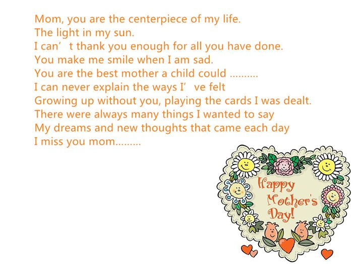 Inspirational Happy Mother's Day Poems From Daughter