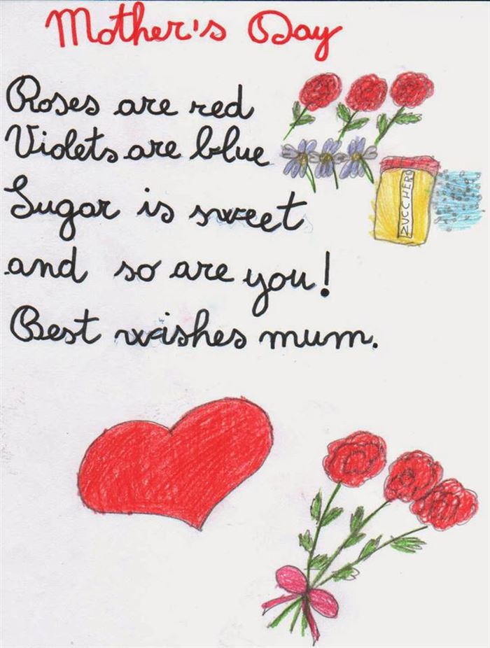 Short Happy Mother's Day Poems About Flowers For Preschool