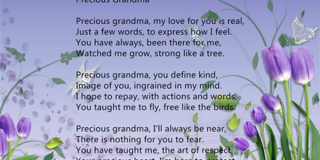 Poems For Grandma For Mothers Day Day 2015 Poems For Grandma