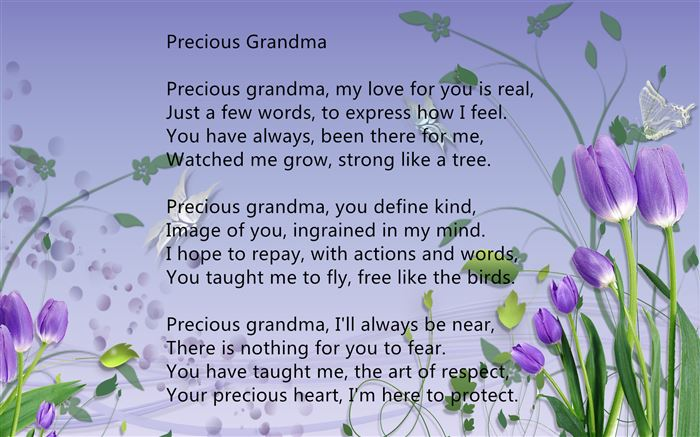 Best Happy Mother's Day Poems For Grandma From Grandson