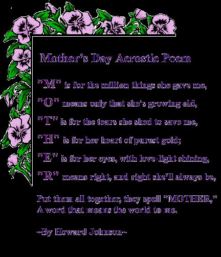 Unique Happy Mother's Day Acrostic Poem Lesson Plan