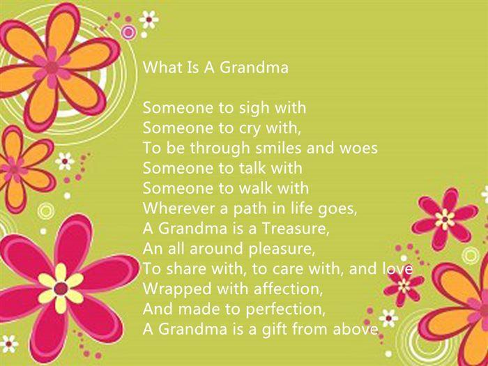 Top Happy Mother's Day Poems From Children To Grandmother