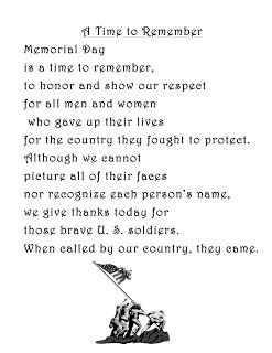 Best Free Printable Memorial Day Poems For Kids