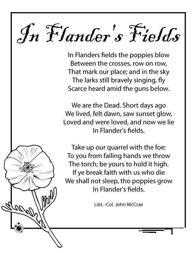 Free Meaningful Printable Memorial Day Poems For Kids
