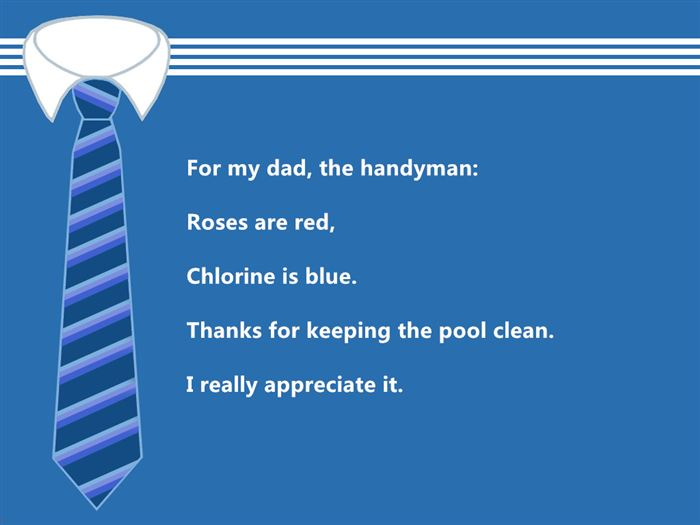 Short Funny Happy Father's Day Poems From Daughter
