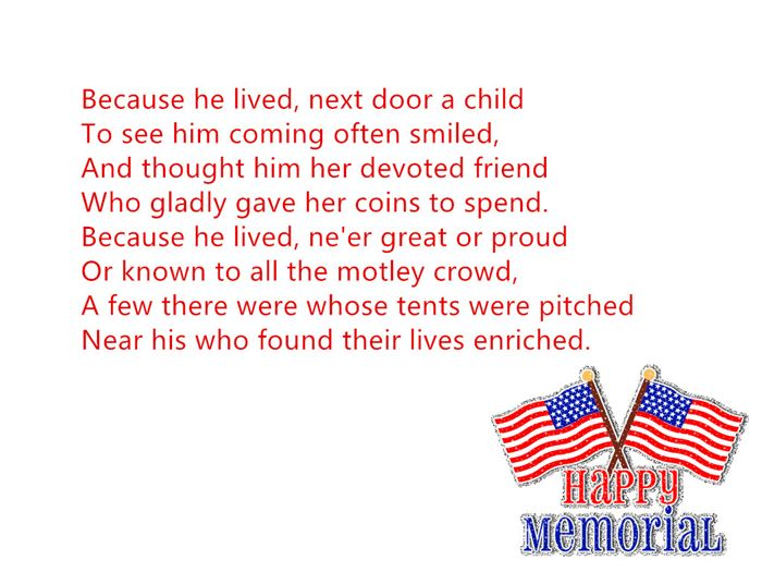 Famous Handprint Memorial Day Poems For Kids