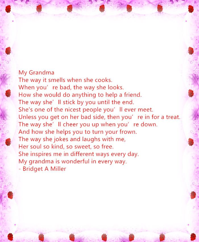 Free Happy Mother's Day Poems For Preschool To Grandma