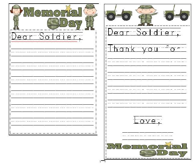 Free Memorial Day Acrostic Poem Worksheets