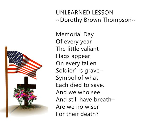 Short Memorial Day Poems For Elementary Kids