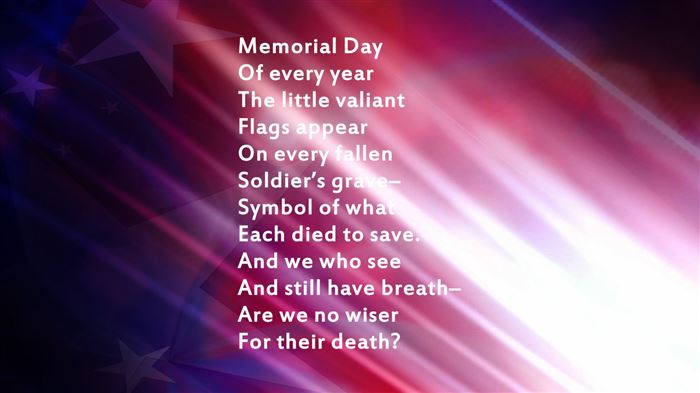 Famous Poems About Memorial Day For Children