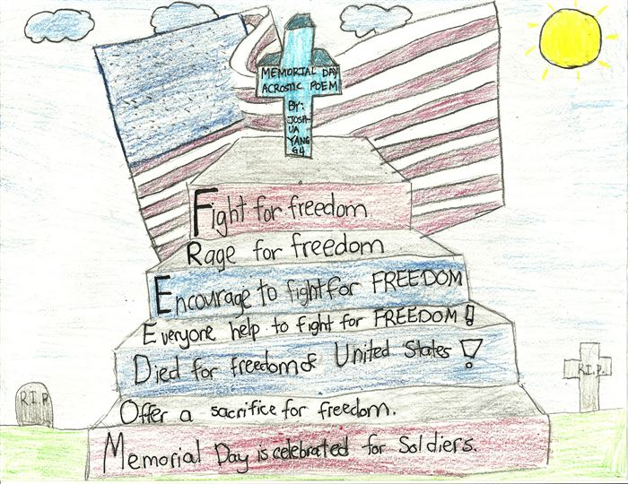 Short Memorial Day Acrostic Poem For Kids