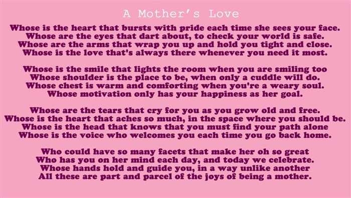 Funny Happy Mother's Day Poems For Preschoolers Free