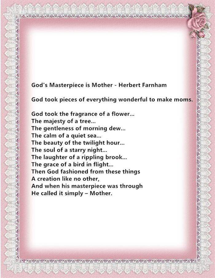 Best Christian Happy Mother's Day Poems For Mother In Law
