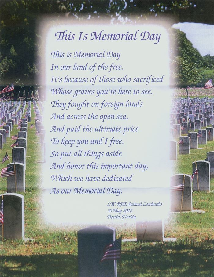 Famous Memorial Day Poems For Veterans