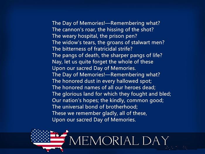 Famous Of Memorial Day Poems
